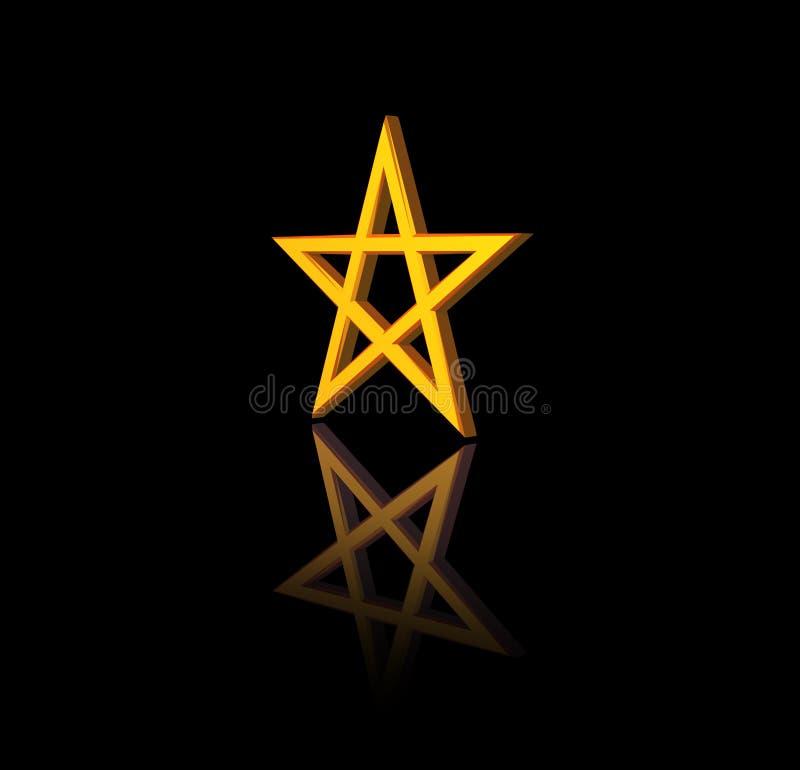 Pentagram vektor abbildung