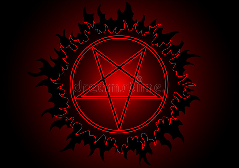 Download Pentagram stock vector. Illustration of black, fire, pentacle - 5958023