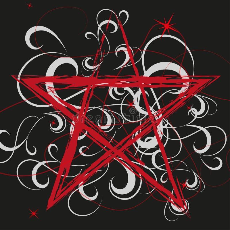 pentagram stock de ilustración