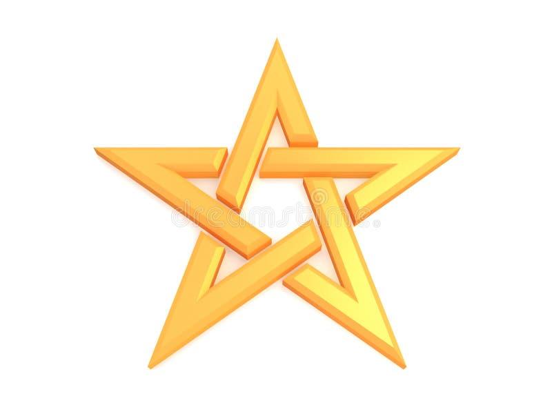 Pentagram ilustração do vetor