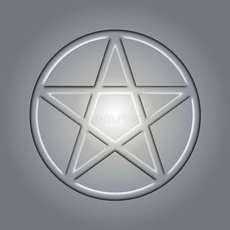 Pentagram del metal imágenes de archivo libres de regalías