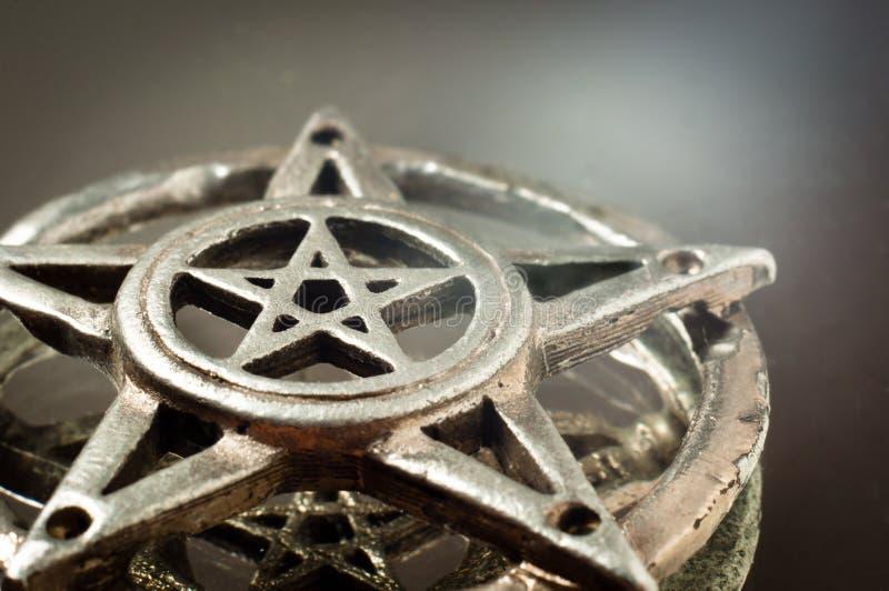 Pentagram met bezinning royalty-vrije stock foto