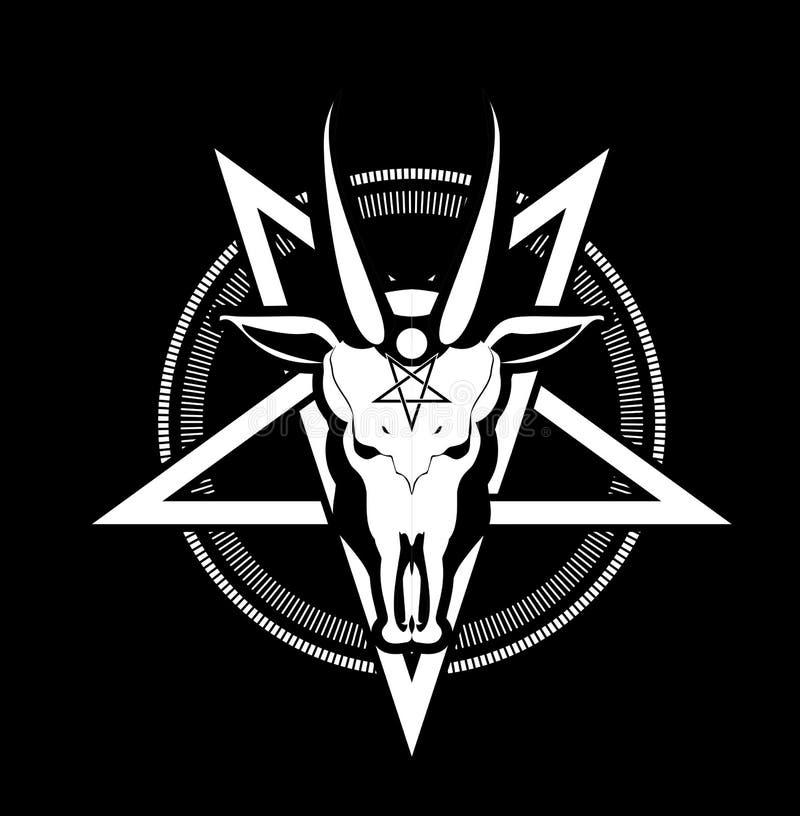 Pentagram Symbol Goat Stock Vector Illustration Of Print 70374139
