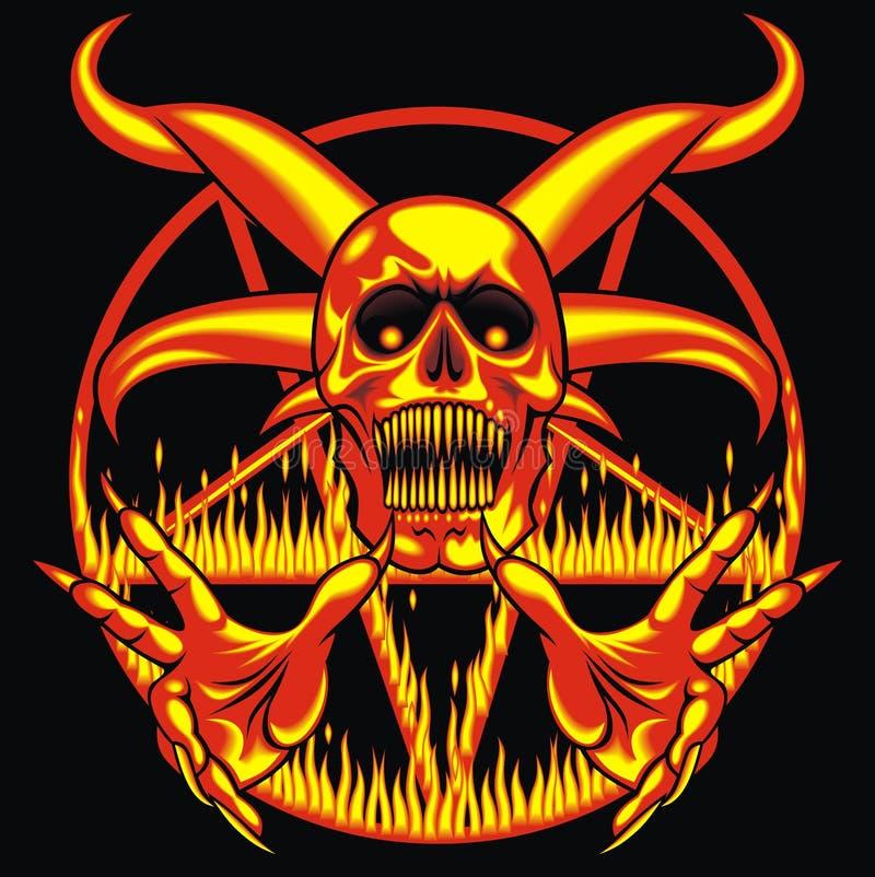 Pentagram - teken van de hel stock illustratie