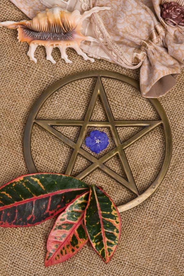 Pentagram - Wicca imagens de stock