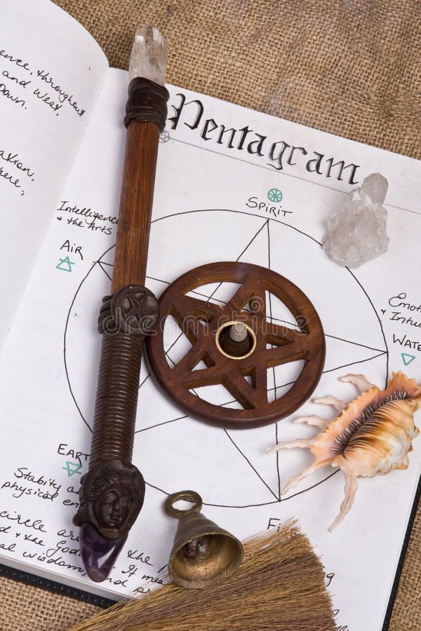 Pentagram - Wiccan Book Of Shadows royalty free stock photography