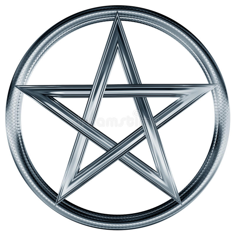 pentagrama srebro royalty ilustracja