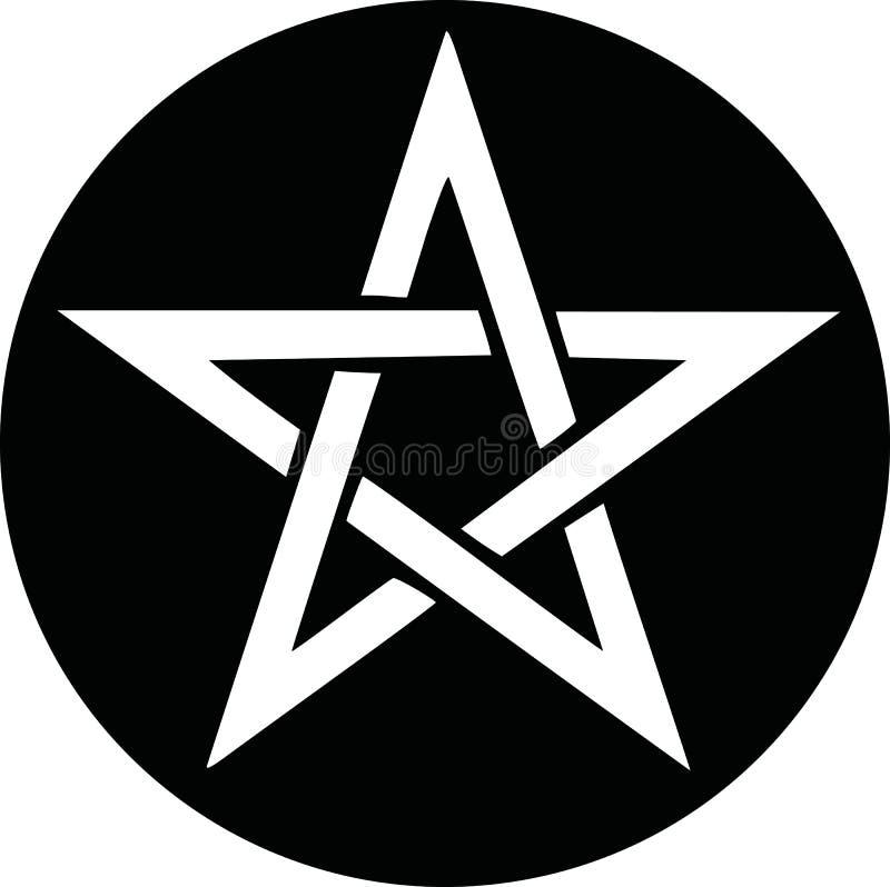 Pentagramikonenvektor stock abbildung