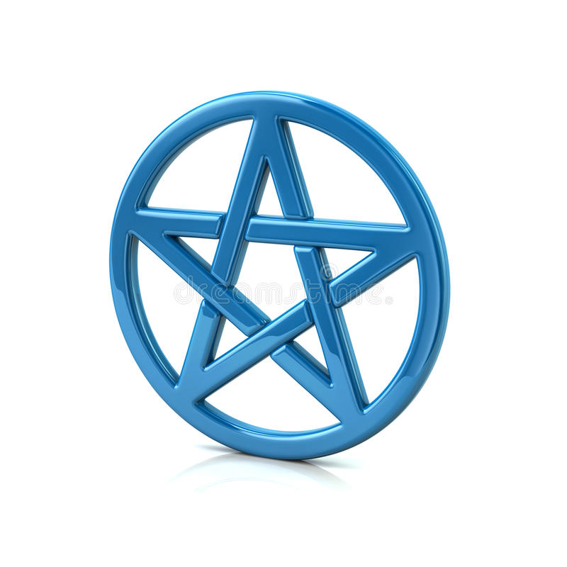 Pentagramme bleu illustration libre de droits
