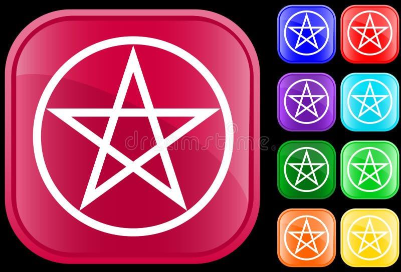 pentagramsymbol stock illustrationer