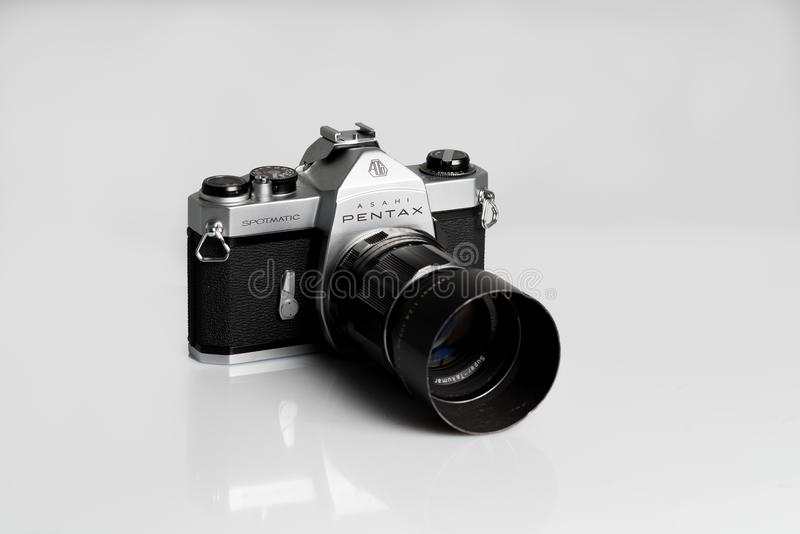 Pentax Asahi Spotmatic. 35mm film camera royalty free stock photo