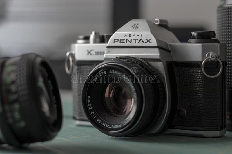 Pentax Ashi K1000. Beauty Shot - the camera many Pentax lovers started with royalty free stock image