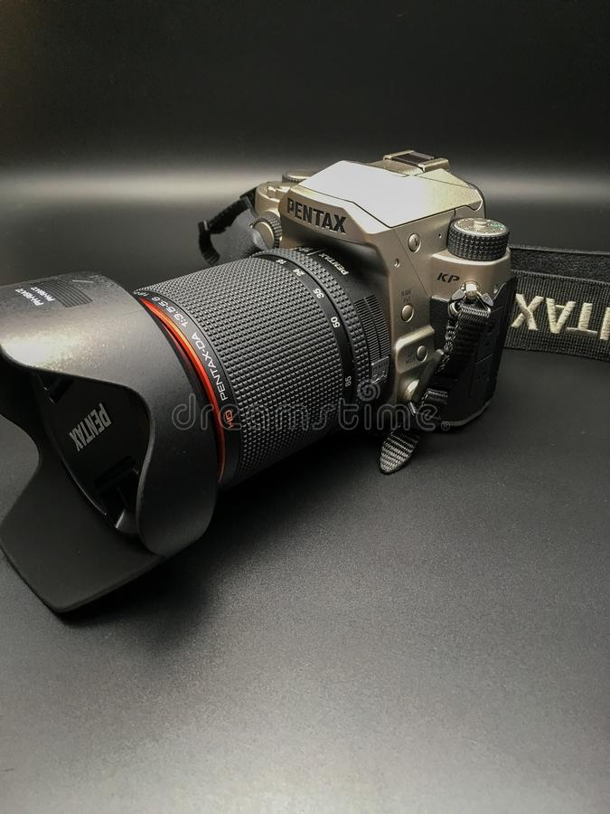 Pentax KP. The new APS-C Pentax Kp with a 16-85 Pentax WR lens royalty free stock photo