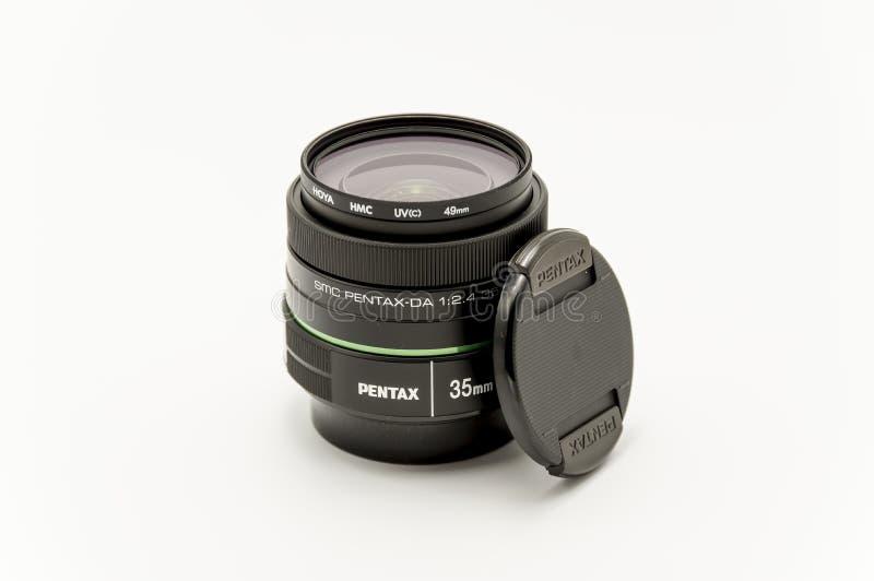 Pentax 35 mm obiektyw f2 4 brandnew obrazy stock