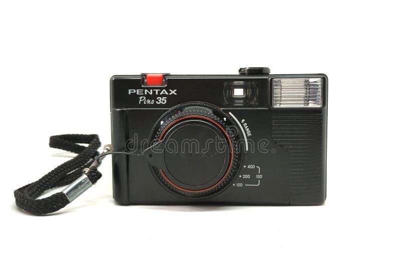 Pentax Pino 35. BANGKOK, THAILAND - MARCH 20, 2017 : Pentax Pino 35 camera isolated on white background stock photos