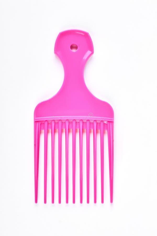 Pente afro profissional cor-de-rosa fotos de stock