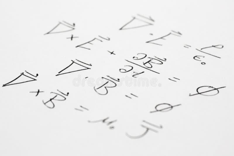pente de maxwell d'équations images stock