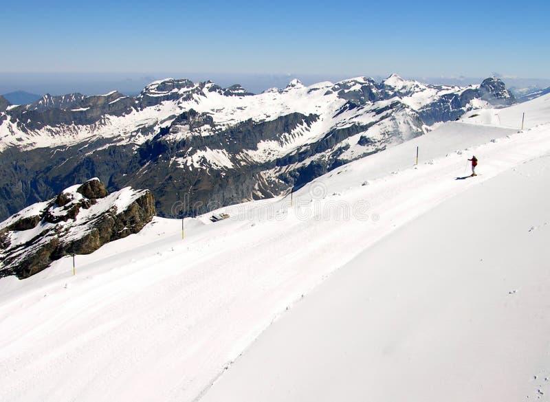 Pente De Ski Photographie stock libre de droits