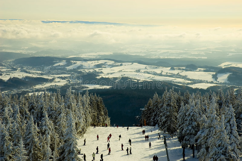 Pente de ski photo stock