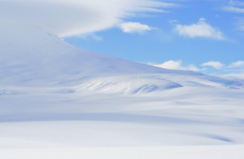 Pente de support Erebus, Antarctique image libre de droits