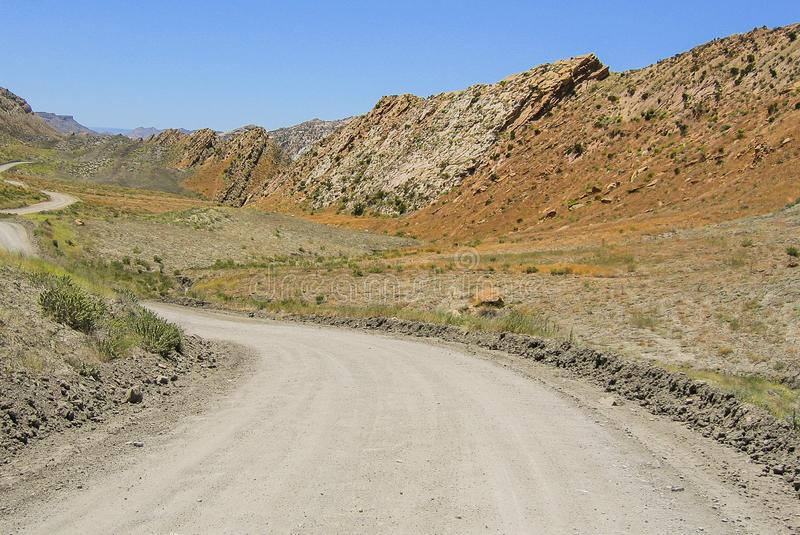 Pente Ridge ao longo da estrada do Cottonwood imagens de stock