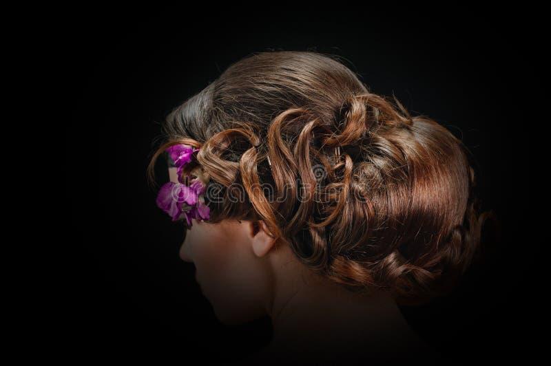 Penteado bonito fotos de stock