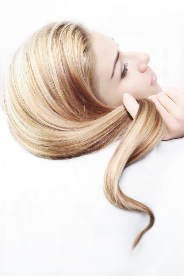 Penteado bonito foto de stock