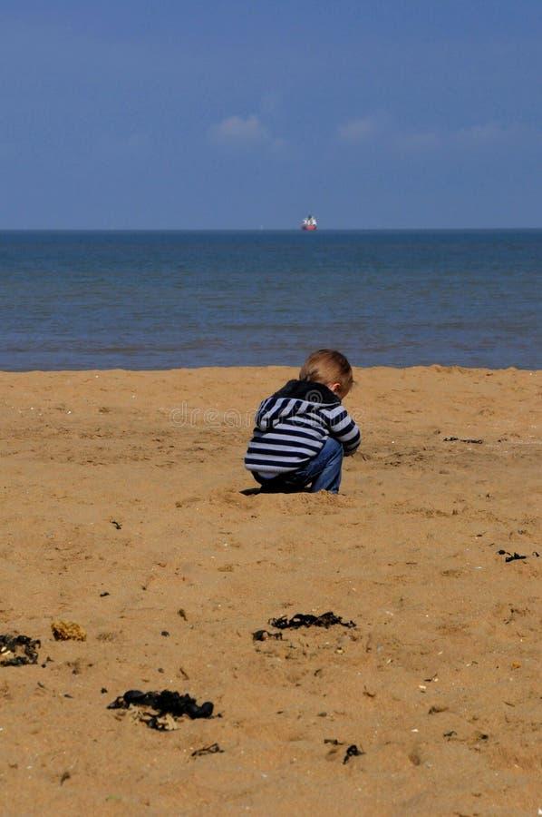 Penteado da praia foto de stock