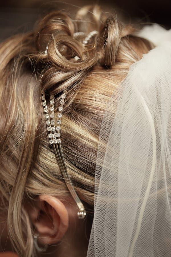 Penteado do casamento imagens de stock royalty free