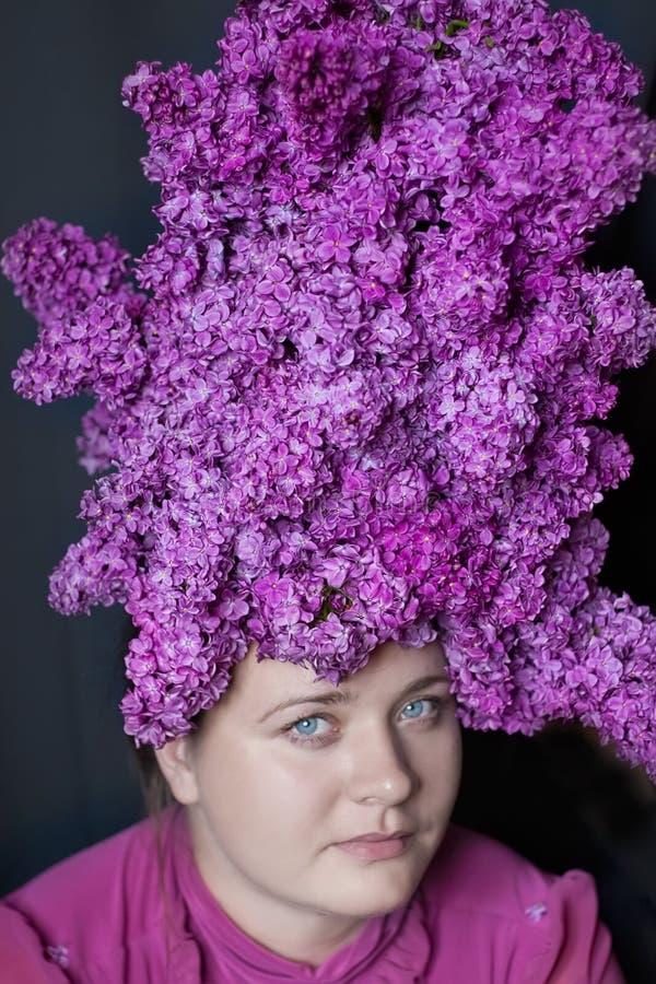 Penteado do lilac fotografia de stock royalty free