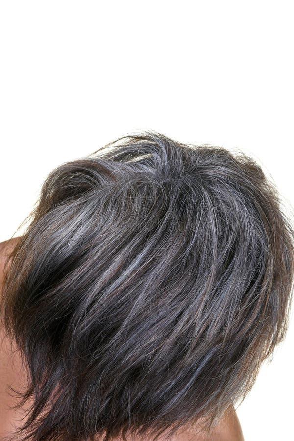 Penteado maduro da mulher fotos de stock