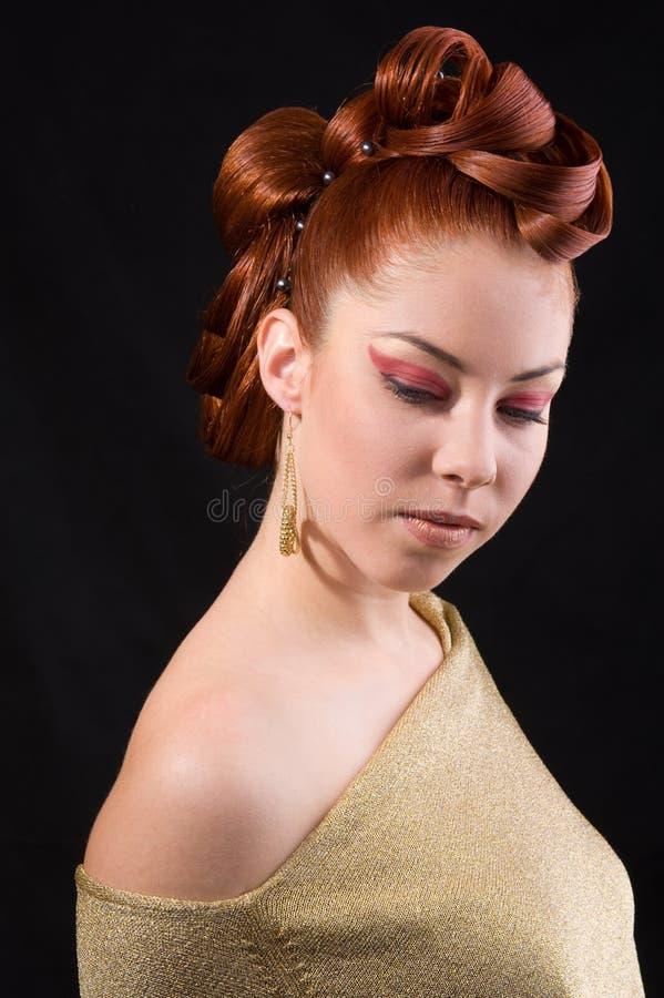 Penteado profissional foto de stock