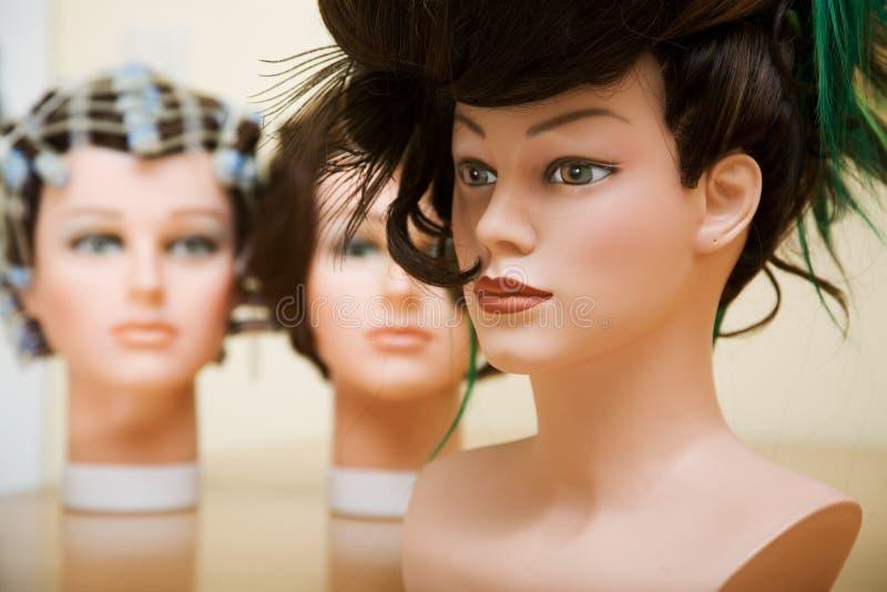 Penteados do salão de beleza imagens de stock