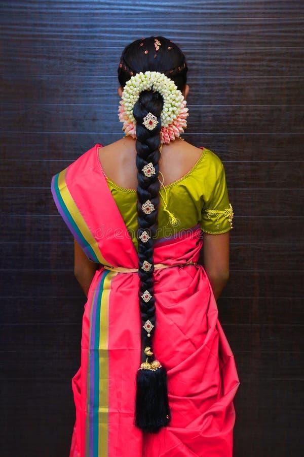 Penteados indianos do casamento, penteados nupciais indianos imagens de stock royalty free