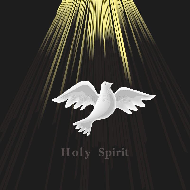 Pentecôte dimanche Pigeon sur la lumière de la lune photo stock