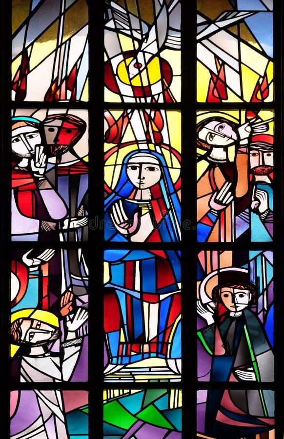 Pentecost, κάθοδος του ιερού πνεύματος στοκ φωτογραφία