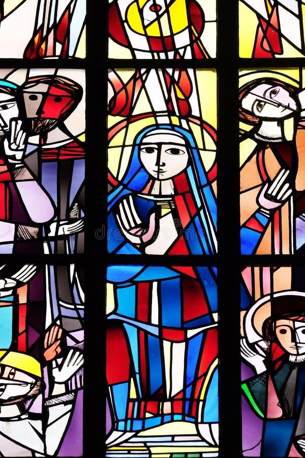 Pentecost, κάθοδος του ιερού πνεύματος στοκ εικόνες με δικαίωμα ελεύθερης χρήσης