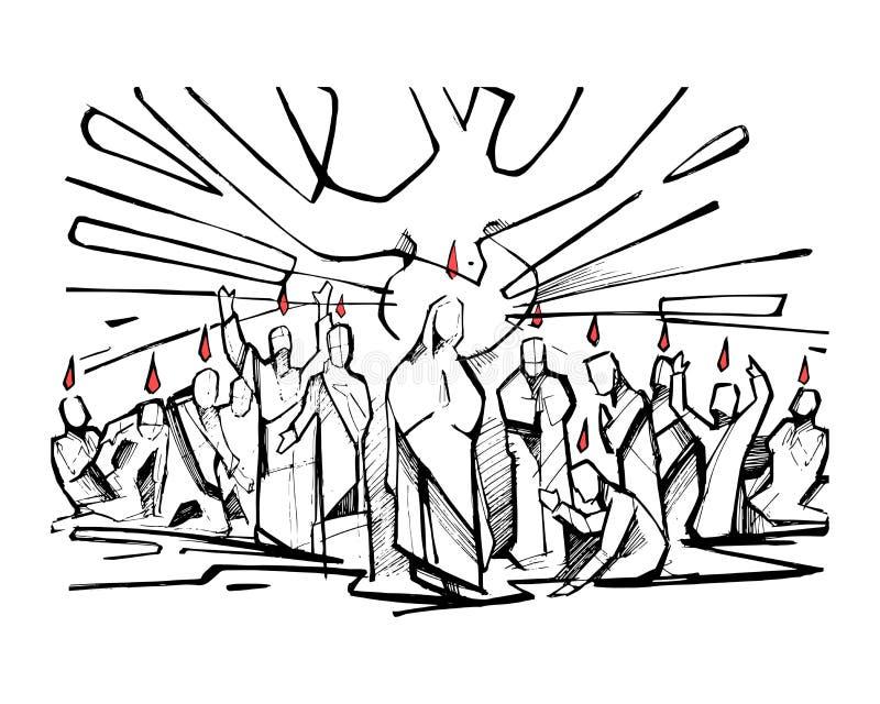 pentecost 皇族释放例证