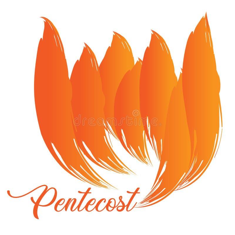 Pentecost Sunday, Typography for print stock photos