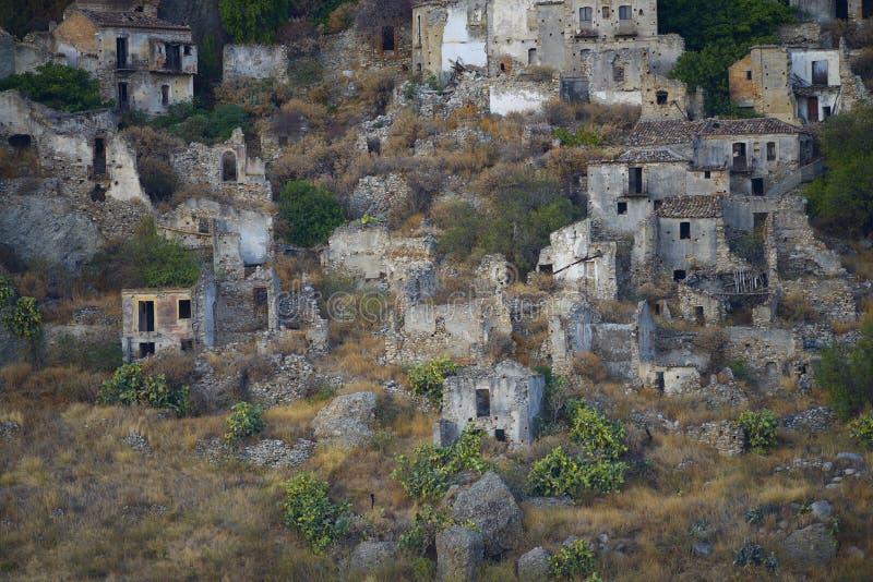 Pentedattilo, Calabrië, Italië royalty-vrije stock afbeelding