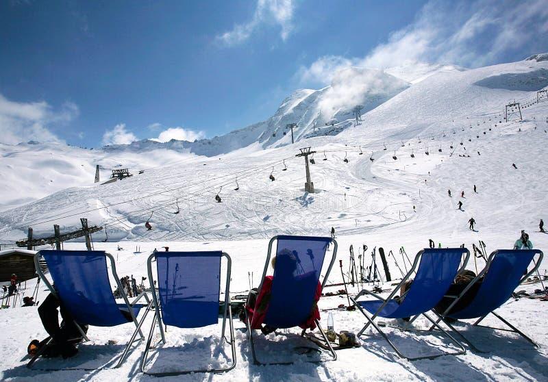 Pentes de Hintertux, Autriche. image libre de droits