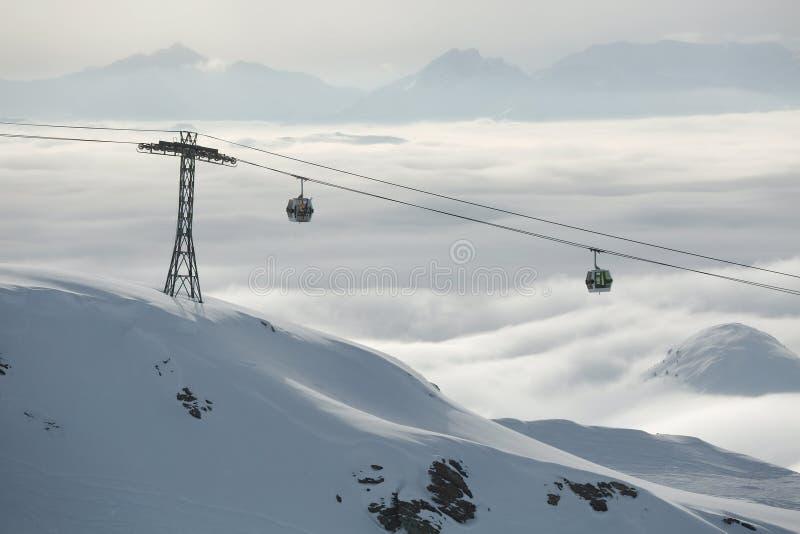 Pentes de ski à partir du dessus photo stock