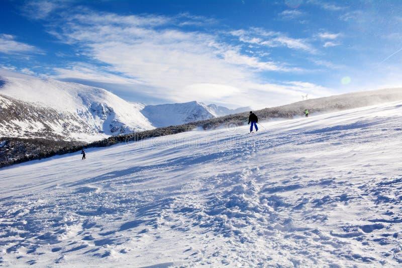 Pentes de ski en Bulgarie, Borovets photo libre de droits