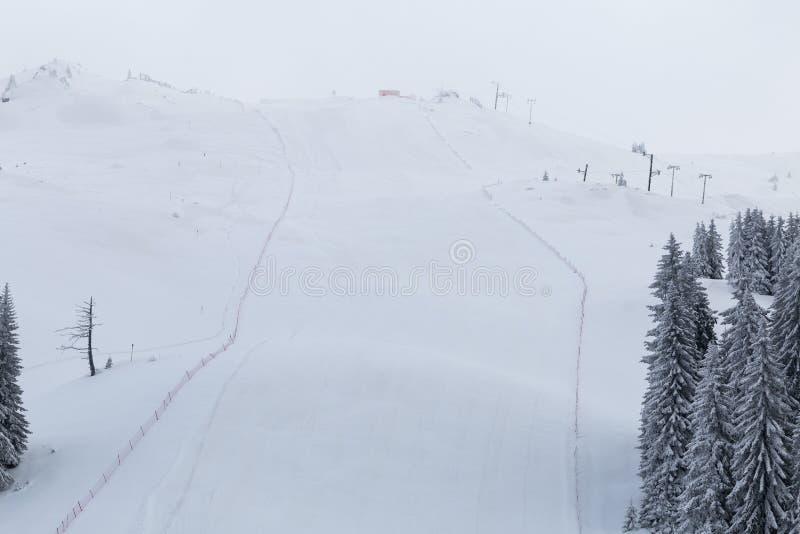 Pentes de ski, montagne Jahorina image stock
