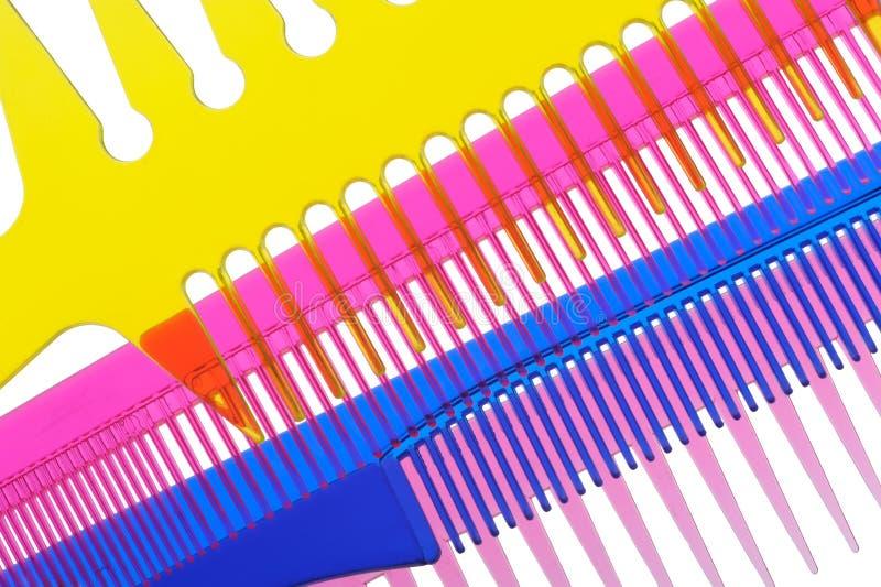 Pentes transparentes multi-coloured ajustados foto de stock royalty free