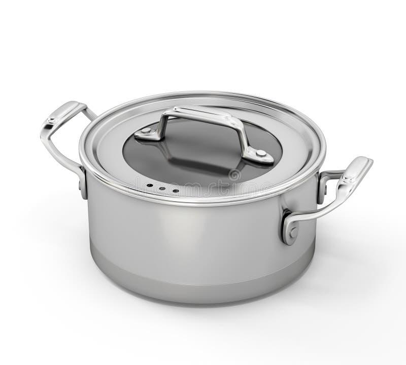 Pentola dell'acciaio inossidabile per cucinare illustrazione vettoriale