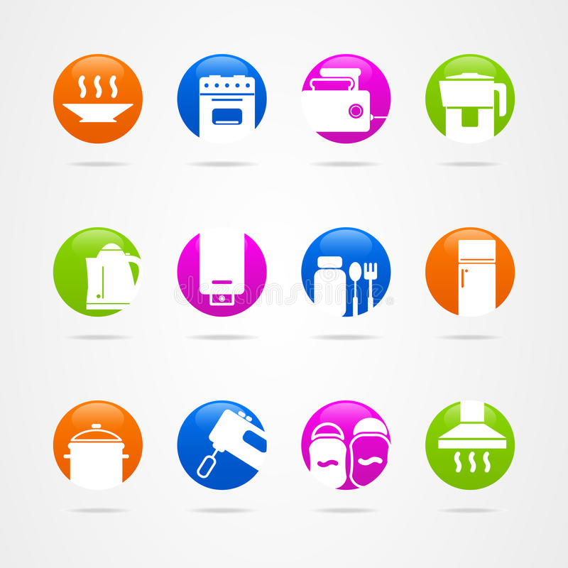 Pentole del bottone dell 39 icona di logo della cucina di for Cucina logo