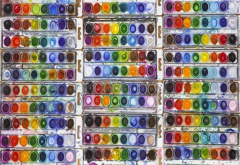 Pentole vivo colorate dell'acquerello immagini stock libere da diritti