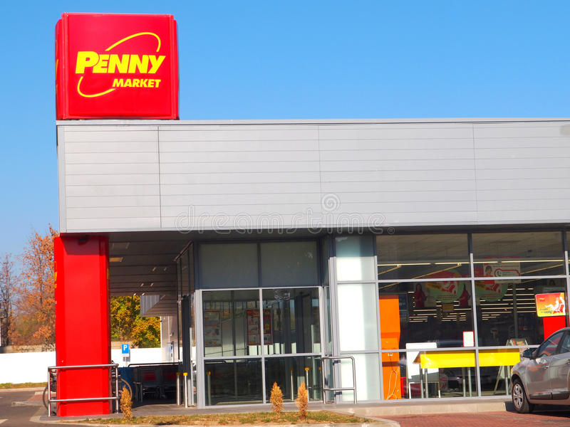 Penyy rynek w Galati, Rumunia fotografia royalty free