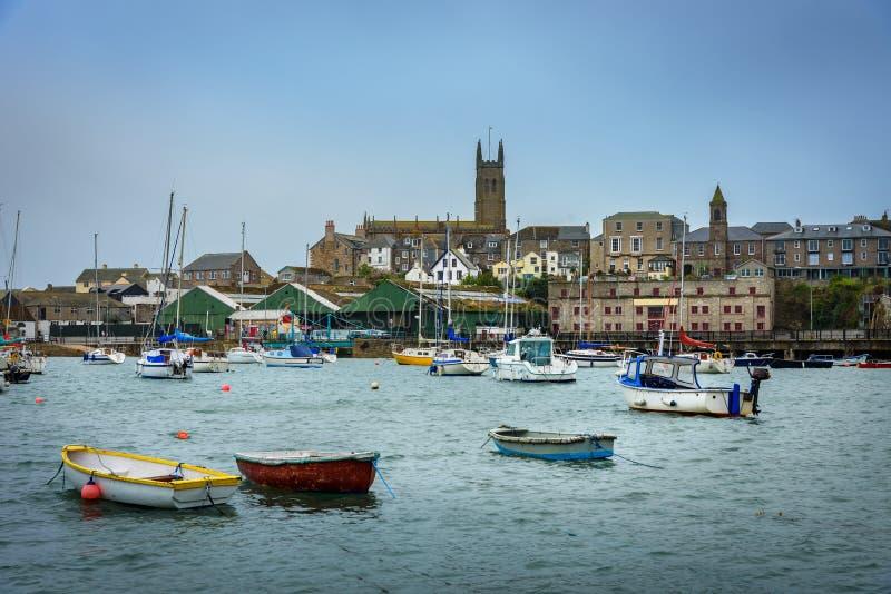 Penzance Cornwall, Anglia UK - obraz stock